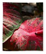 Tropical Rain - Botanical Art By Sharon Cummings Fleece Blanket
