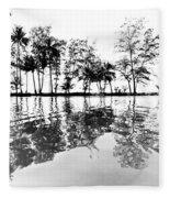 Tropical Reflections Fleece Blanket