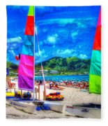 Tropical Sails Fleece Blanket