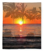 Tropical Spirits - Palm Tree Art By Sharon Cummings Fleece Blanket