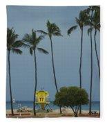 Tropical Storm Flossie Kapukaulua Beach Paia Maui Hawaii 2013 Fleece Blanket