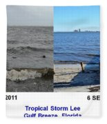 Tropical Storm Lee Difference A Day Makes Fleece Blanket
