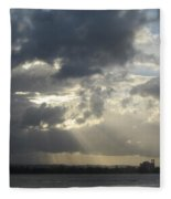 Tropical Stormy Sky Fleece Blanket