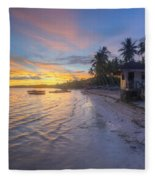 Tropical Sunrise Fleece Blanket