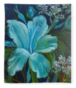 Tropical Turquoise Fleece Blanket