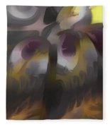 Tropical Wind Pastel Abstract Fleece Blanket