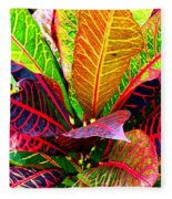 Tropicals Gone Wild Naturally Fleece Blanket