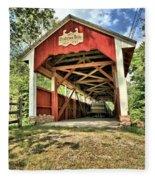 Trostle Town Covered Bridge Fleece Blanket