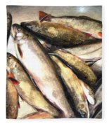 Trout Digital Painting Fleece Blanket