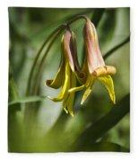 Trout Lily Flowers Fleece Blanket