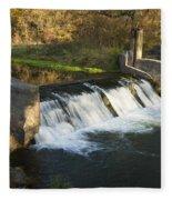 Trout Run Creek Dam 1 Fleece Blanket