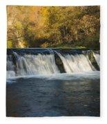 Trout Run Creek Dam 2 Fleece Blanket
