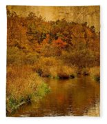 Trout Stream Textured Fleece Blanket