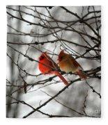 True Love Cardinal Fleece Blanket