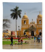Trujillo Peru Plaza Fleece Blanket