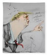 Trump In A Mission....much Ado About Nothing. Fleece Blanket