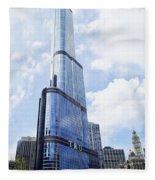 Trump Tower 3 Letter Signage Fleece Blanket