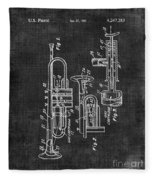 Trumpet Patent Fleece Blanket