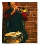Trumpet Solo Fleece Blanket