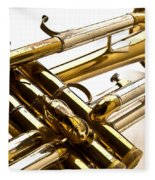 Trumpet Valves Fleece Blanket
