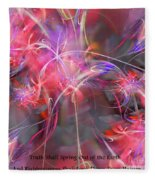 Truth Shall Spring Out Fleece Blanket