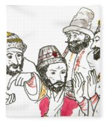 Tsar And Courtiers Fleece Blanket