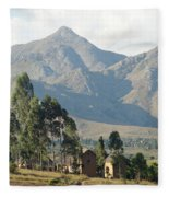 Tsaranoro Mountains Madagascar 1 Fleece Blanket