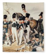 Tsarevich Alexander 1818-81 With His Cadets At Peterhof, C.1823 Wc On Paper Fleece Blanket