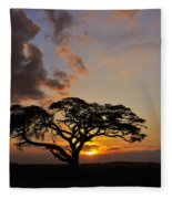 Tsavo Sunset Fleece Blanket