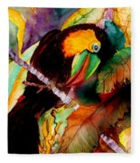 Tu Can Toucan Fleece Blanket