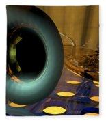 Tuba Goes Disco Fleece Blanket