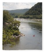 Tubing On The Potomac River At Harpers Ferry Fleece Blanket