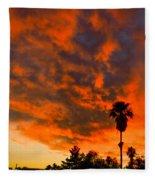 Tucson Arizona Sunrise Fire In The Sky Fleece Blanket