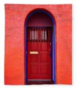 Tucson Doorway Fleece Blanket