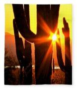 Tucson Sunset Fleece Blanket