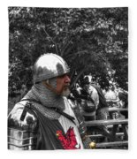 Tudor Knight In Armor  V1 Fleece Blanket