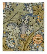 Tudor Roses Thistles And Shamrock Fleece Blanket