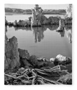 Tufa In Black And White Fleece Blanket