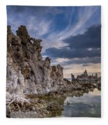 Tufas And Clouds Fleece Blanket