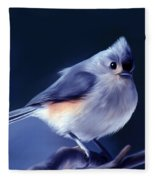 Tufty The Titmouse Fleece Blanket