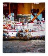 Tug Boat  Fleece Blanket