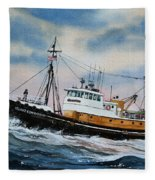 Tugboat Island Commander Fleece Blanket