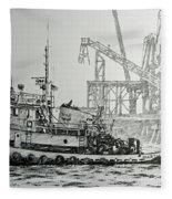 Tugboat Martha Foss Fleece Blanket