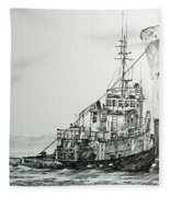Tugboat Richard Foss Fleece Blanket