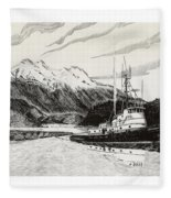 Skagit Chief Tugboat Fleece Blanket