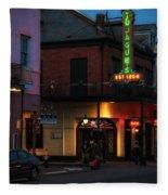 Tujagues At Night In New Orleans Fleece Blanket