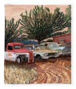 Tularosa Motors Fleece Blanket