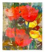Tulip Abstracts Fleece Blanket