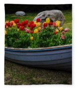 Tulip Boat Fleece Blanket