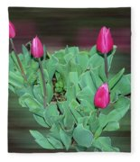 Tulip Bouquet Fleece Blanket